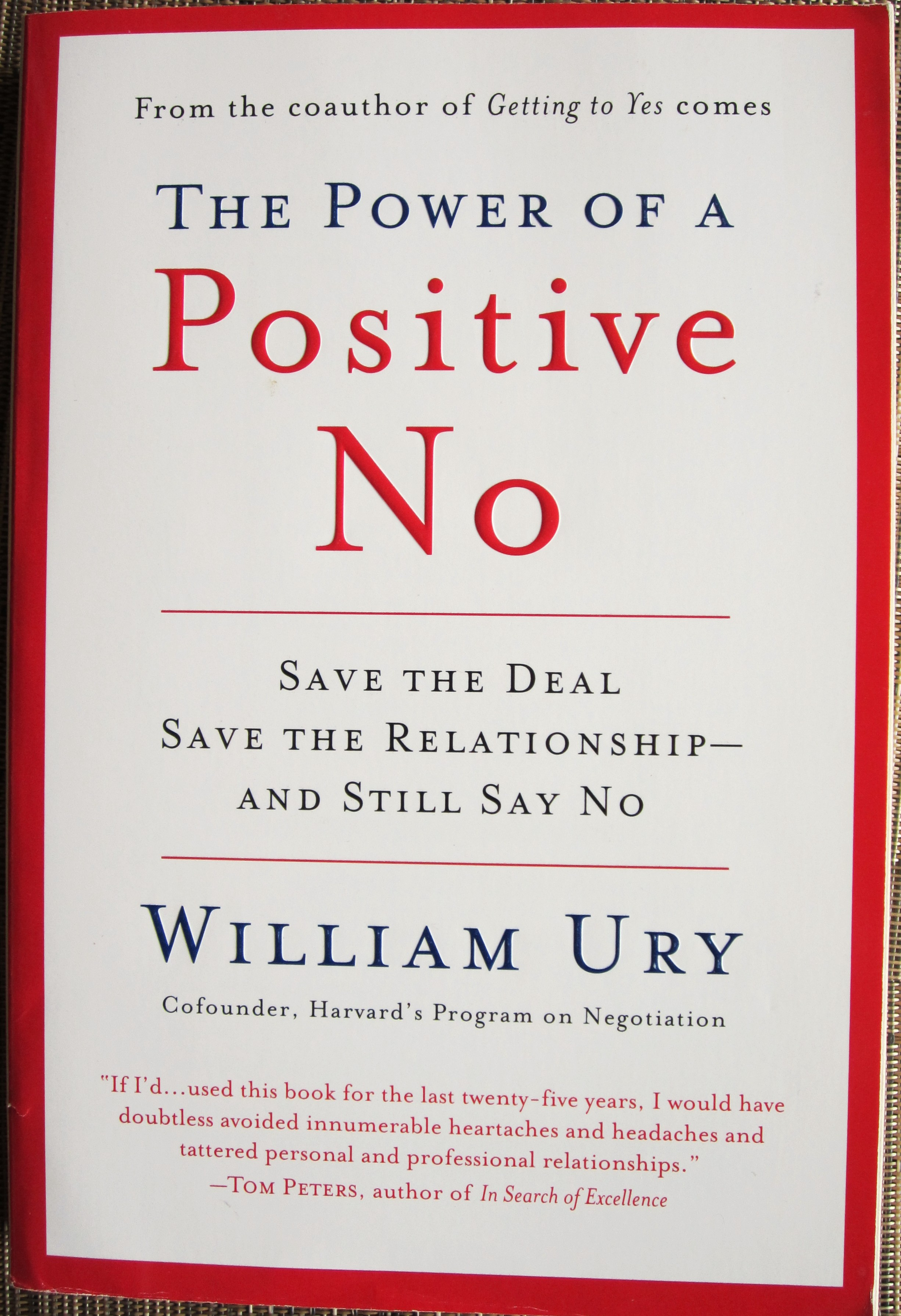 The power of positive no william ury 77